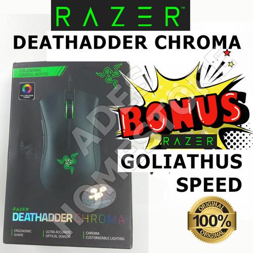 Foto Produk Razer DEATHADDER CHROMA Original 100% (Bukan OEM, Bukan KW) +Goliathus dari ADES homestore