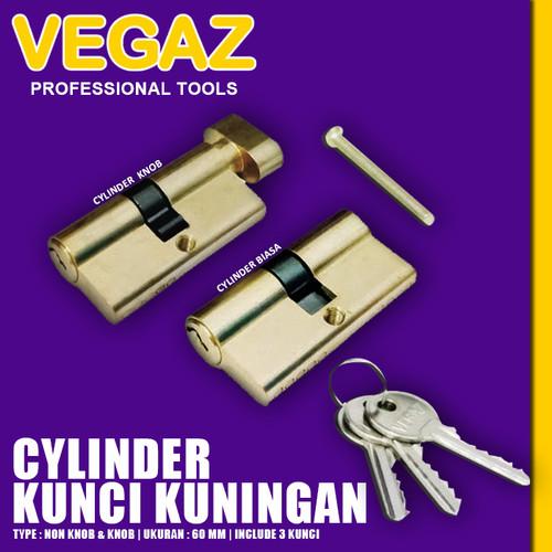 Foto Produk VEGAZ - Silinder Kuningan Kunci Pintu Cylinder Kunci Pintu Besar 60 MM dari Vegaz-Tools