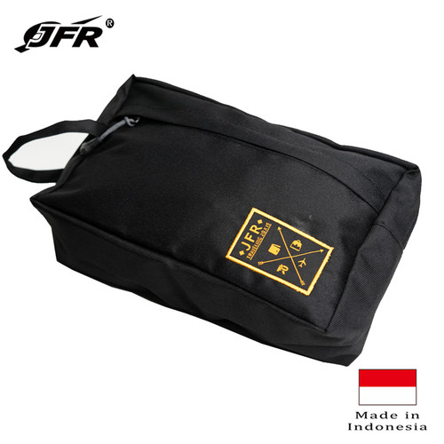Foto Produk JFR Tas Kantong Pouch Bag Bahan Polyester JT01 Black dari Jennifer Wallet