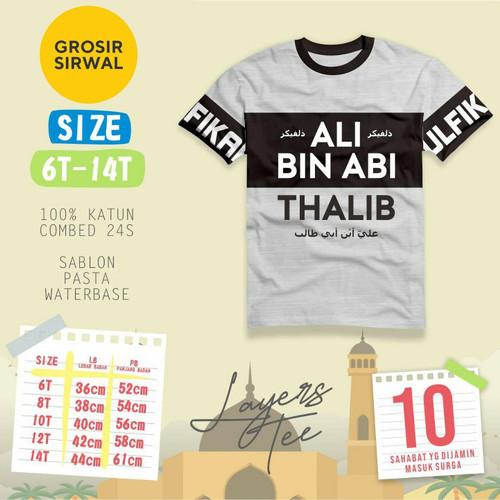 Foto Produk Kaos Anak Muslim Lengan Pendek 7-12 tahun - bin auf, 10 dari griyahijabq
