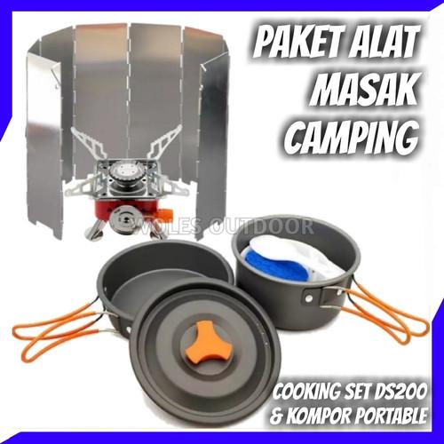Foto Produk Paket Hemat Cooking set / Nesting 2 person & Kompor camping Redbird dari Woles Outdoor Store
