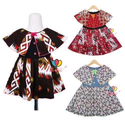 Foto Produk Dress Irene size 1-2 Tahun / Dres Batik Cape Anak Perempuan Murah Baju - 1-2 tahun dari Kios Balita Fawa