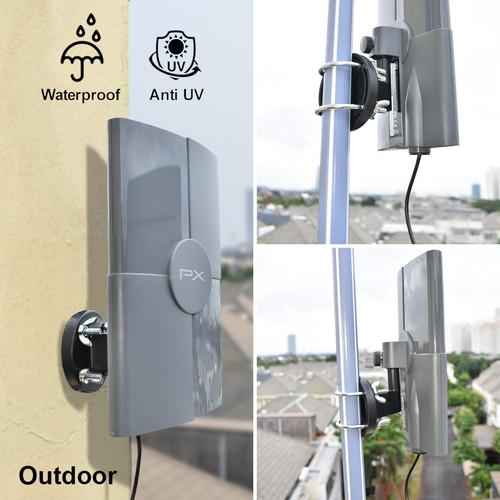 Foto Produk Antena TV Digital Analog PX DA-5120 Kabel 12M Booster Indoor-Outdoor dari HokkyElektronik
