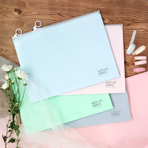 Foto Produk Keep Life Simple Zipper File Folder A4 dari Pinkabulous