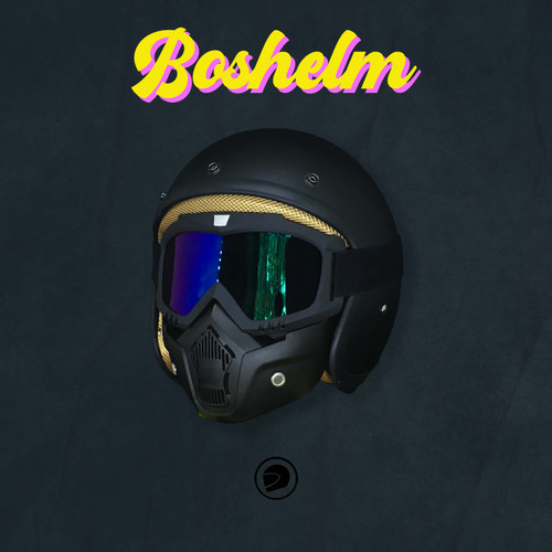 Foto Produk Helm Retro Google Mask - BLACK MATTE dari BOSHELM