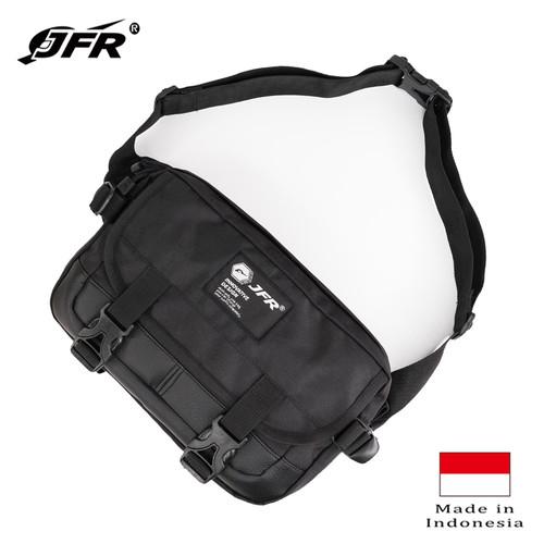 Foto Produk JFR Tas Pinggang Waist Bag Bahan Polyester JT11 Hitam dari Jennifer Wallet