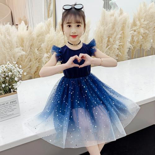Foto Produk Dress Anak Perempuan Import - Biru, 160 dari Baby33Shop