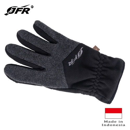 Foto Produk JFR Gloves Sarung Tangan Polar Fleece Touchscreen JGloves-12 Black - Hitam dari Jennifer Wallet