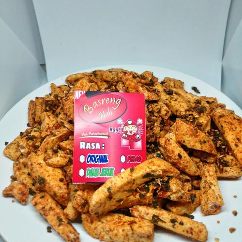 Foto Produk Basreng Hah pedas daun jeruk 1kg - pedas daunjeruk dari Markas Makaroni