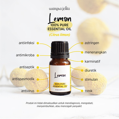 Foto Produk Wangsa Jelita Lemon 100% Pure Essential Oil 12 ml dari Wangsa Jelita Official