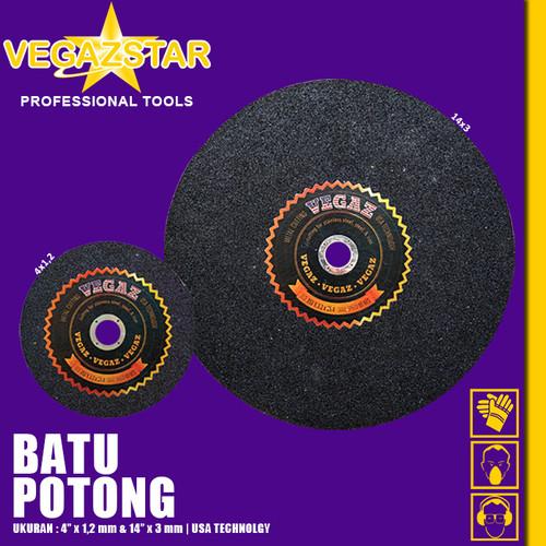 Foto Produk VEGAZ - Batu Gerinda Gurinda Batu Potong Besi Mata Cutting Wheel dari Vegaz-Tools