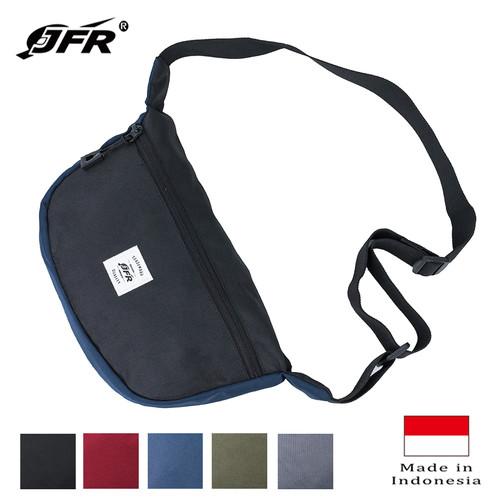 Foto Produk JFR Tas Slempang Sling Bag Bahan Polyester JT08 Hitam - Hitam dari Jennifer Wallet