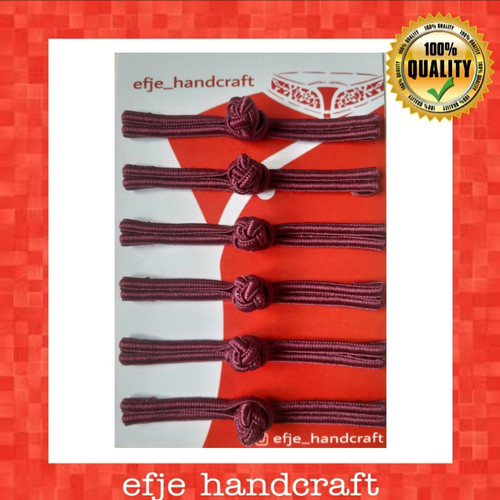 Foto Produk Kancing Shanghai / Cheongsam EFJE K001-Burgundi (warna anggur) dari efje_handcraft