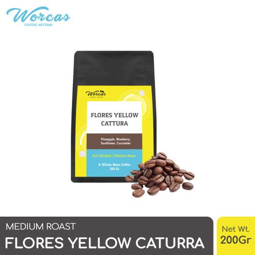 Foto Produk WORCAS Arabica Flores Yellow Caturra 200 Gram - Medium Roasted Coffee - KOPI BIJI dari WORCAS COFFEE