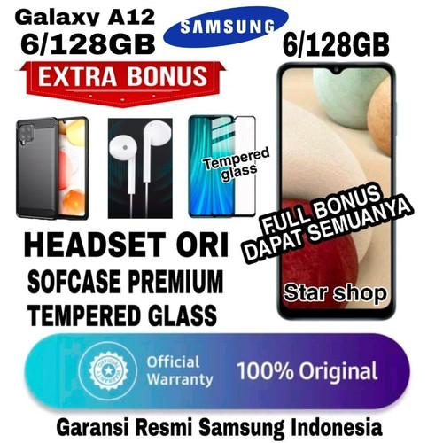 Foto Produk SAMSUNG GALAXY A12 6/128 GB GARANSI RESMI SAMSUNG INDONESIA - BLACK dari Star Shop V