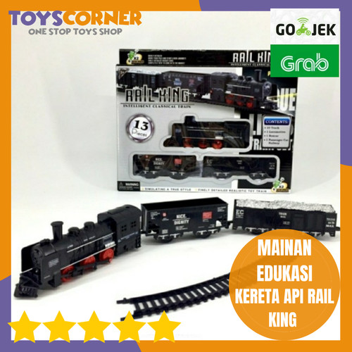 Foto Produk RAIL KING TRAIN SET REPLIKA KERETA API MAINAN dari TOYSCORNER INDONESIA