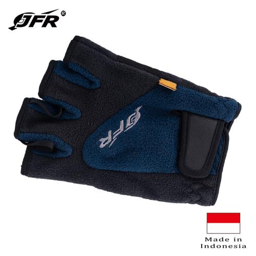 Foto Produk JFR Gloves Sarung Tangan Polar Fleece Half Finger JGloves-13 Navy - NAVY dari Jennifer Wallet