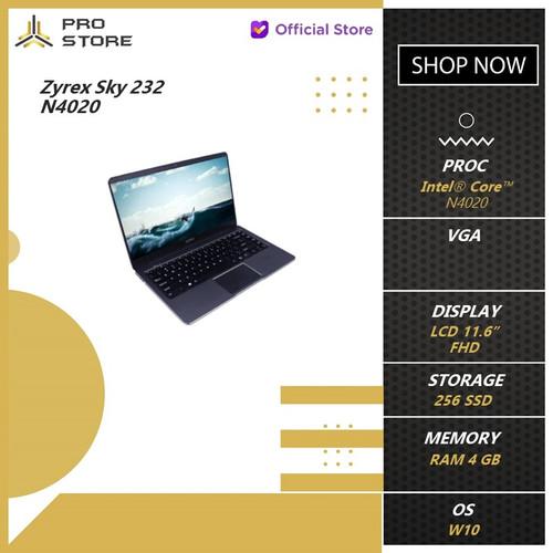 Foto Produk Zyrex Sky 232 N4020 4GB 256ssd+64GB W10 11.6FHD BT BLK - LAPTOP, GREY dari ProStoreComputer