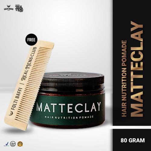 Foto Produk NEW !!! Folti Baffi Pomade Matte Clay Hair Nutrition BPOM HALAL dari Phirin Green Angelica