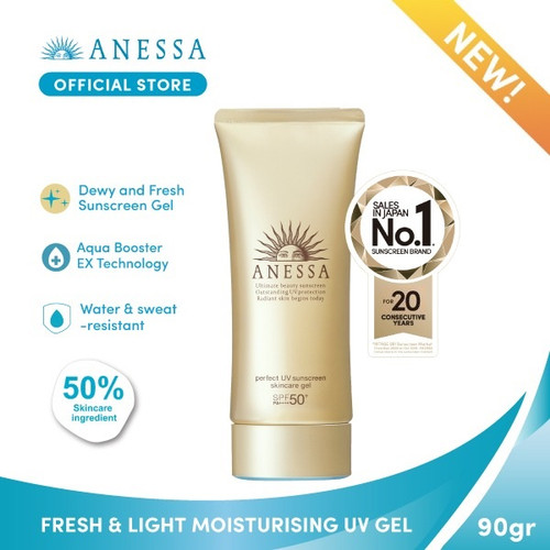 Foto Produk ANESSA PERFECT UV SUNSCREEN SKINCARE GEL SPF 50+ PA++++ 90gr dari Anessa Official Store