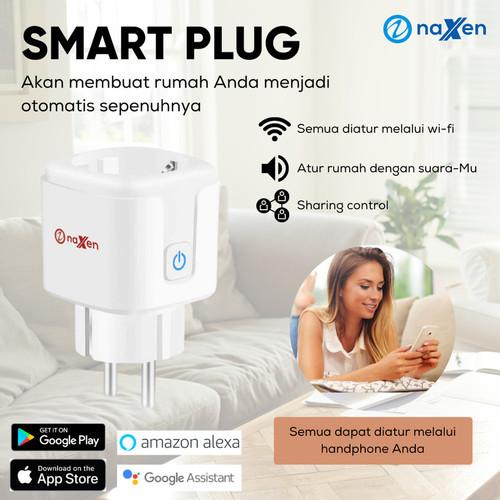 Foto Produk Naxen Wifi Smart Plug 16A Steker Pintar Google Alexa Tuya Smartlife dari TokoUsbcom
