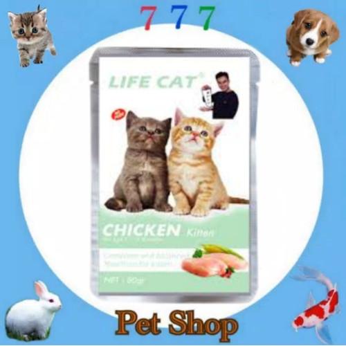 Foto Produk LIFE CAT MAKANAN KUCING LIFECAT POUCH KITTEN 85GR - KITTEN CHICKEN dari 777 PETSHOP
