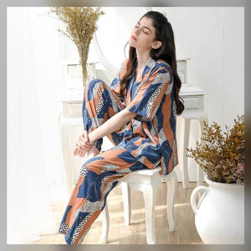 Foto Produk Eliza Set in Savanna - Sleepwear / Piyama Baju Tidur Rayon RAHA dari Raha Sleepwear