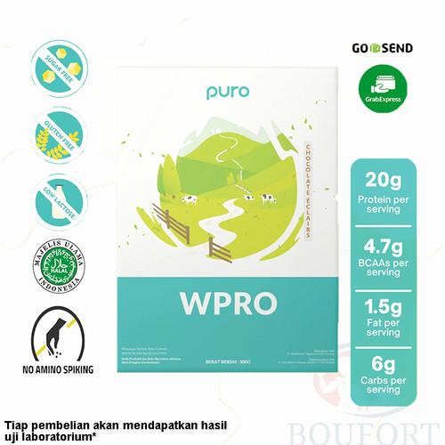 Foto Produk PURO WPRO 300gr Whey Concentrate Susu Protein WPC BPOM Halal - Choco Eclairs dari Boufort