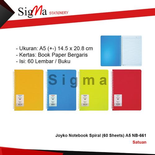 Foto Produk Joyko Notebook Spiral (60 Sheets) A5 NB-661 dari Sigma Stationery