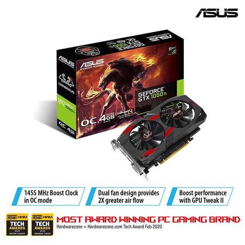 Foto Produk Vga Asus GTX 1050 ti 4Gb - Asus Cerberus Geforce GTX 1050ti OC 4GB dari Global link distribution