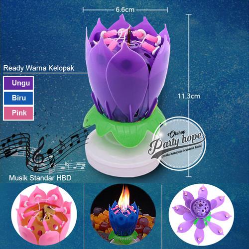 Foto Produk lilin bunga teratai / Lilin Lotus / Lilin Mekar / Lilin Bunga / Lilin - Ungu dari PARTY HOPE 2