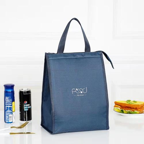 Foto Produk Tas Bekal Lunch Cooler Bag Alumunium Kotak Makan Anak bermotif 005 - Biru Tua, Regular dari GRAFIZH
