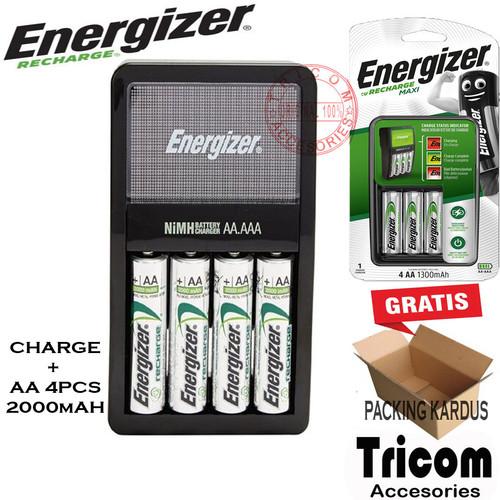 Foto Produk Battery Charge Energizer Maxi free battery AA 4pcs 2000mAh dari Tricom accesories