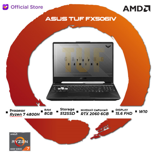 Foto Produk Asus TUF A15 FX506IV R7R6B6T   Ryzen 7 4800H 8GB 512ssd RTX 2060 6GB dari AMD Official Store