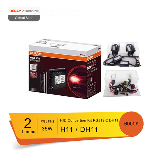 Foto Produk Osram Lampu Mobil HID Convertion Kit H11 PGJ19-2 DH11 6000K dari Osram Automotive