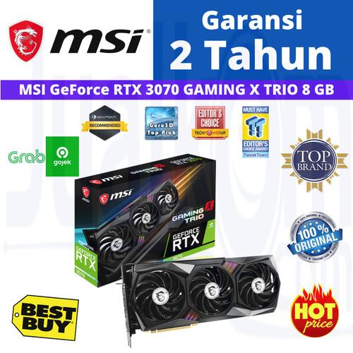 Foto Produk VGA MSI RTX 3070 GEFORCE RTX3070 8GB OC GAMING X TRIO dari Cahaya Matahari Computer