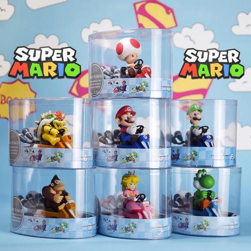 Foto Produk Mainan Super Mario Kart Pull Luigi Bowser Koopa Donkey Kong Princess 6 - Toad dari Space grosir