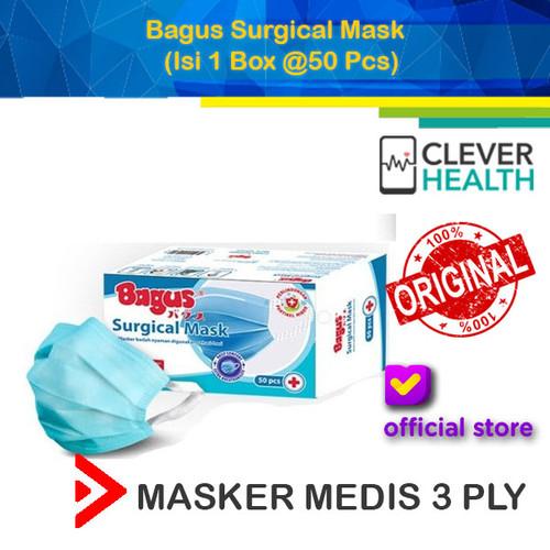Foto Produk Bagus Surgical Mask / Masker 3 Ply / Masker Medis / Box isi 50 dari CleverHealth