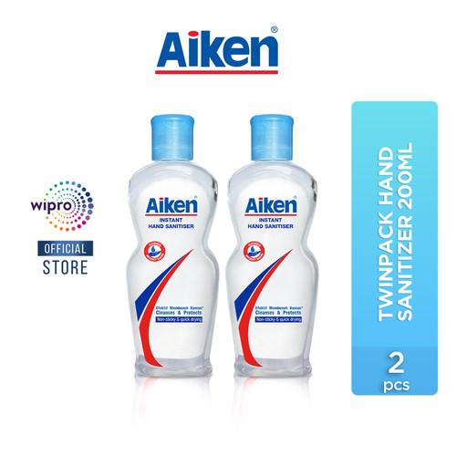 Foto Produk Aiken Instan Hand Sanitizer 200 Ml Twinpack dari Wipro Unza Official