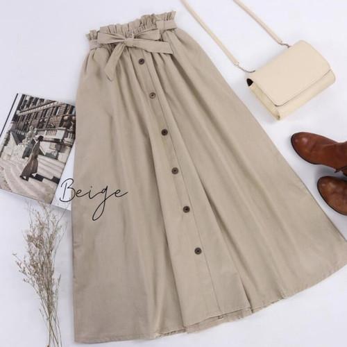 Foto Produk rok panjang wanita kancing - Nevy dari Rivahijab