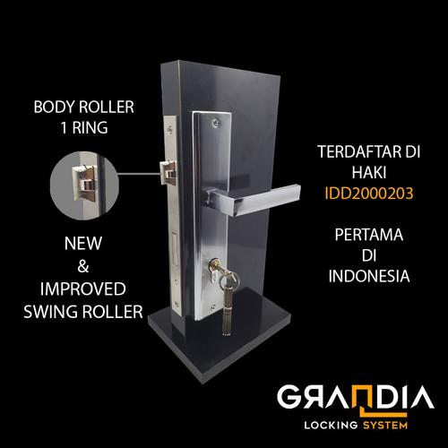 Foto Produk Grandia Gagang Pintu Besar Kayu Set / Door Handle Besar AL931.32 - Gold Silver dari Arga Anggala Sentosa
