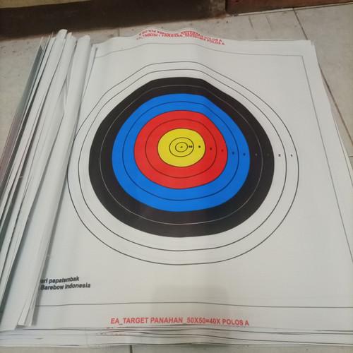 Foto Produk Target Face 40cm 10ring (Standard Indoor/Barebow Target) dari papatembak