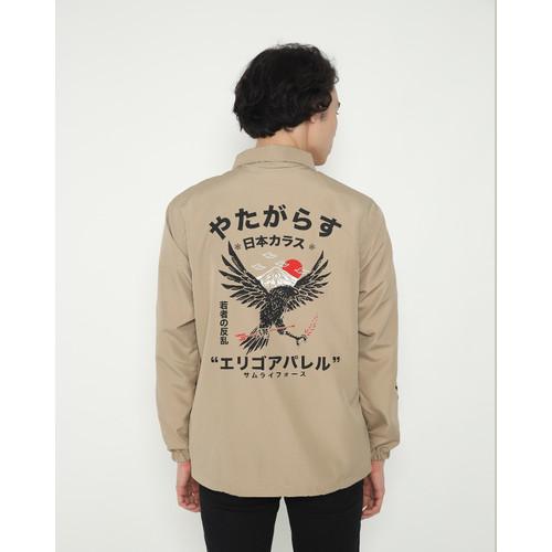 Foto Produk Outerwear Pria Erigo Coach Jacket Mamoru Taslan Khaki - S dari Erigo Official