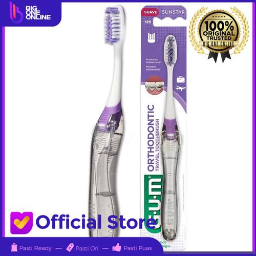 Foto Produk Sikat Gigi GUM Orthodontic Toothbrush 125, GUM Ortho Sikat Gigi Travel dari BigOneOnline