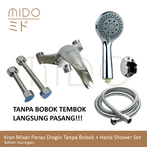 Foto Produk Kran Bathub Air Panas Dingin / Kran Mixer Tanpa Bobok Tembok Shower - Tanpa Shower dari Sanitaryz