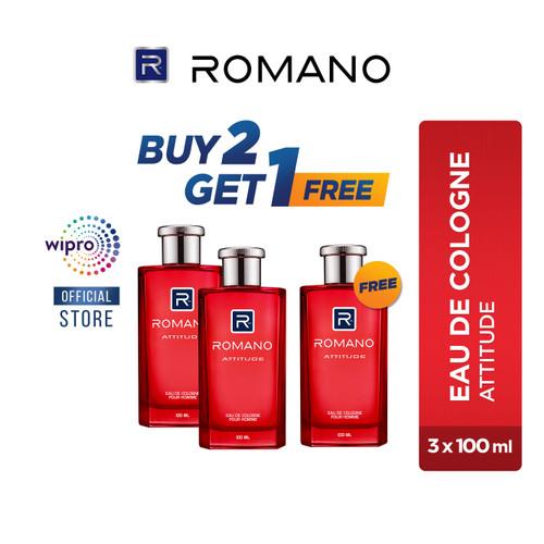 Foto Produk Romano Eau De Cologne Attitude 100Ml BUY 2 GET 1 FREE dari Wipro Unza Official