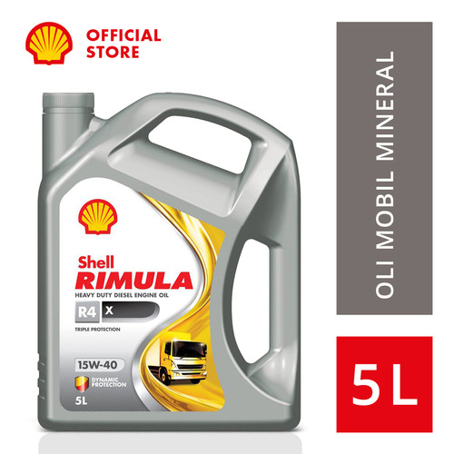 Foto Produk Oli Mesin Mobil Shell Rimula R4X (5L) dari SHELL Indonesia