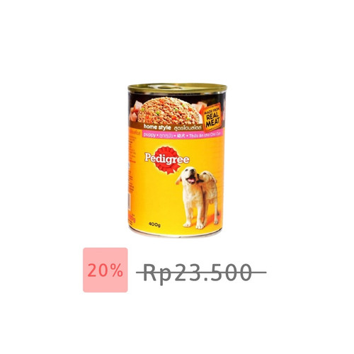 Foto Produk Pedigree - 400g Puppy Kornet Kaleng Makanan anak anjing dari atanta Shop