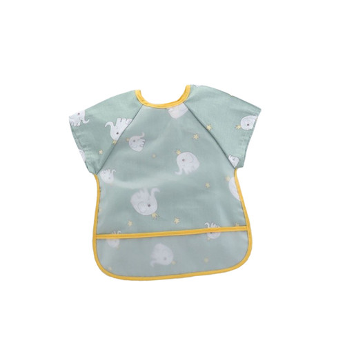 Foto Produk Kiki Waterproof Baby Bibs / Celemek Bayi - Hijau dari Abby Baby