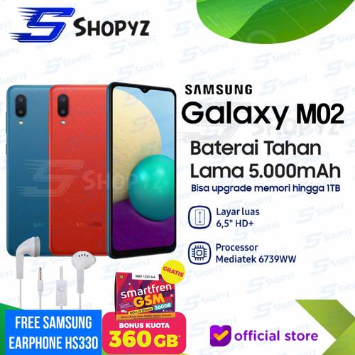 Foto Produk SAMSUNG GALAXY M02 - 5000mAh Battery - 2GB 32GB 2/32 - Garansi Resmi - BiruTanpaBonus dari Shopyz ID